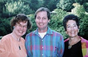 Ginger Renner, Andy Hannas, Sally Mosher in 1995.  Photo courtesy of Ginger Renner.
